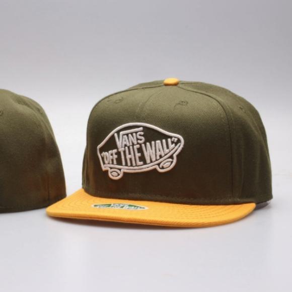 Vans Snapback Hat Green   Yellow 5e864efaecf